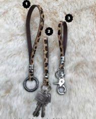 Leopard-Schlüsselband-Keychain-Animal-Print