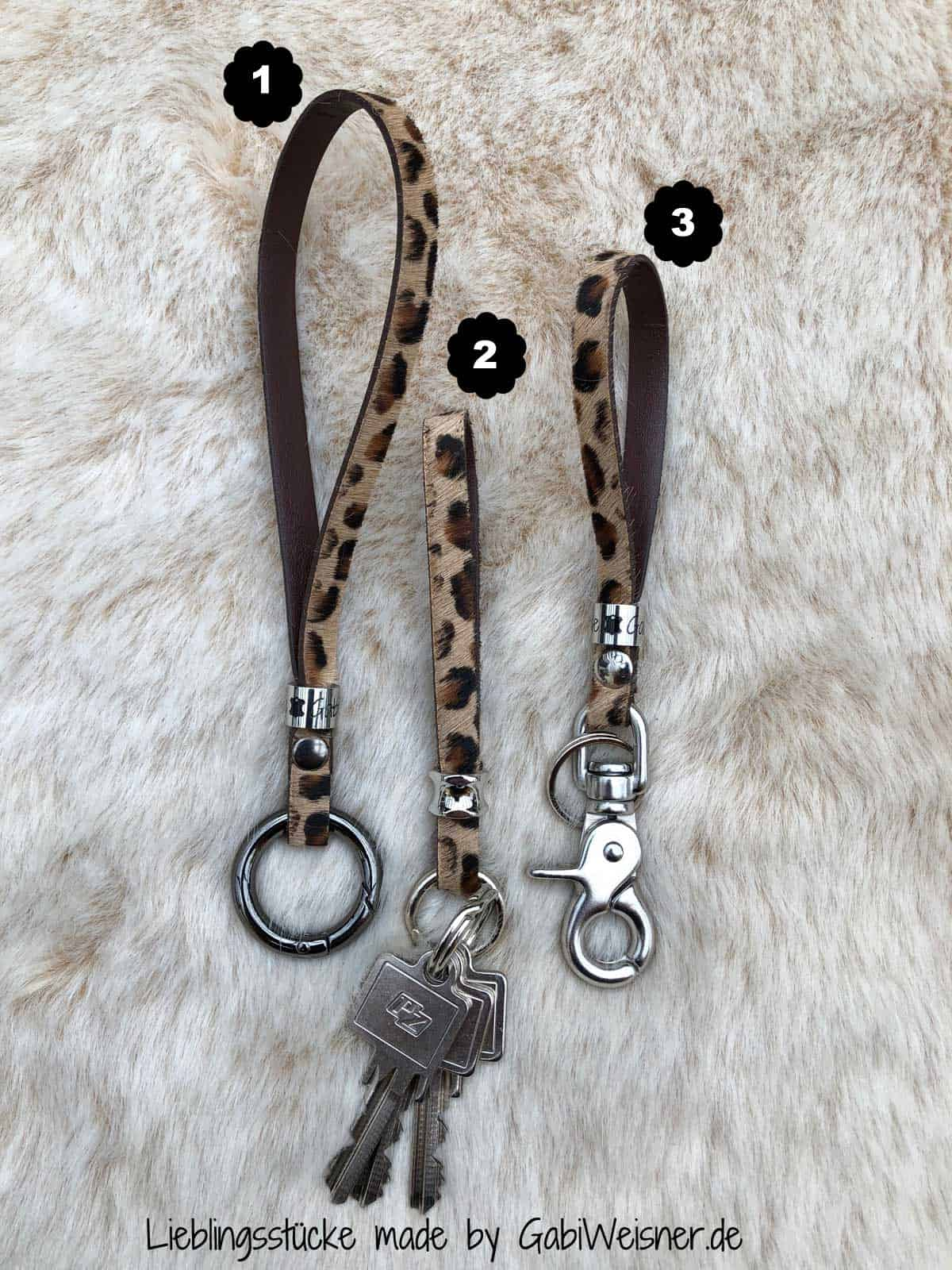 Leopard Schlüsselband Keychain Animal-Print