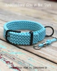 Hundehalsband-Glow-in-the-Dark-blau