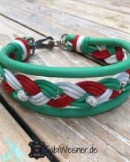 Hundehalsband-Italien-dekoriert-mit-Strass-und-Kronen-5-cm-breit