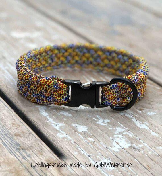 Hundehalsband mit Klickverschluss in Schwarz, Gold oder silberfarben