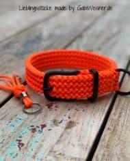 hundehalsband-paracord-orange-3cm-breit-verschluss-schwarz-1Hundehalsband Orange Paracord 3 cm breit stufenlos verstellbar