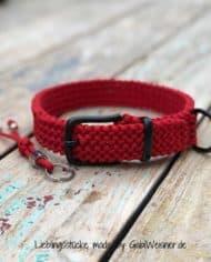 hundehalsband-paracord-rot-3cm-breit-verschluss-schwarz-1