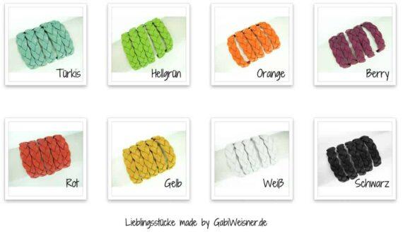 Zopf Nappaleder Farben