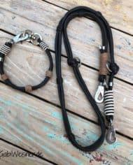 HundeHalsband-Leder-SET-leichter-Mix-in-Braun-Beige-2
