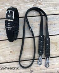 Hundehalsband-und-Leine-Leder-in-Schwarz-kombiniert-mit-Edelstahl