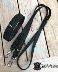 Hundehalsband-und-Leine-Leder-schwarz-2