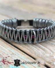 LUXUS-Halsband-und-Leine-pink-silber-schwarz-1