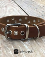 Hundehalsband-Leder-3-cm-breit-verstellbar-Sterne-Swarovski-3