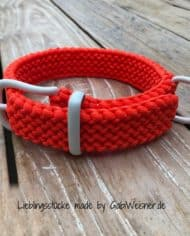 Hundehalsband-Orange-Weiß