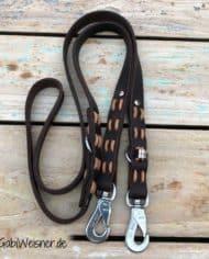 Hundeleine-Leder-2,5-cm-breit-Braun-Natur-Sprenger-Haken-1