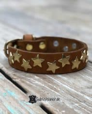 Lederhalsband-mit-Sternen-dekoriert-3-cm-breit-Cognac-Gold-1