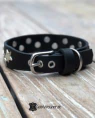 Lederhalsband-mit-Sternen-dekoriert-3-cm-breit-schwarz-silber-1