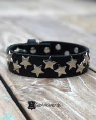 Lederhalsband-mit-Sternen-dekoriert-3-cm-breit-schwarz-silber-2