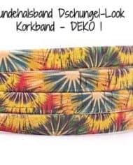 Hundehalsband-Dschungel-Look-Korkband—DEKO-1
