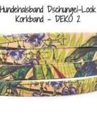 Hundehalsband-Dschungel-Look-Korkband—DEKO-2