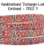 Hundehalsband-Dschungel-Look-Korkband—DEKO-3
