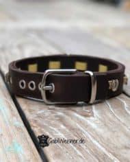 Hundehalsband-happy-Horse-Hufeisen-Leder-Kork-gelb-3