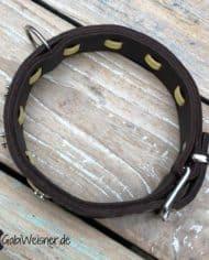 Hundehalsband-happy-Horse-Hufeisen-Leder-Kork-gelb-4