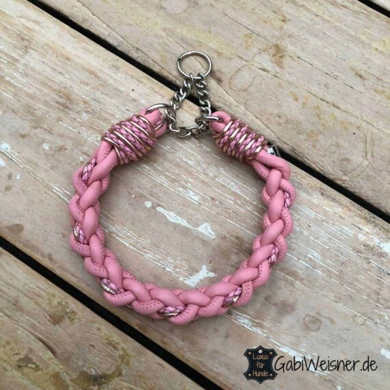 Halsband in Rosa