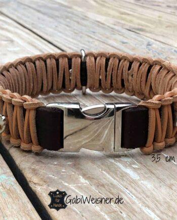 Hundehalsband mit Klickverschluss Leder 35 mm breit