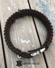 Hundehalsband-mit-Klickverschluss-Leder-40-mm-breit-braun-braun-1