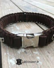 Hundehalsband-mit-Klickverschluss-Leder-40-mm-breit-braun-braun