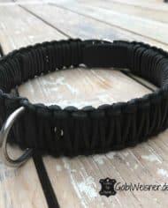 Hundehalsband-mit-Klickverschluss-Leder-40-mm-breit-schwarz-schwarz