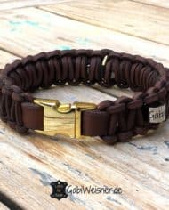 Hundehalsband-mit-Klickverschluss-Leder-gold-braun