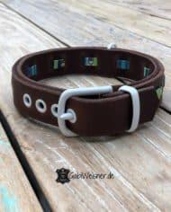 Hundehalsband-verstellbar-mit-Verschluss-in-Weiß