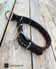 Hundehalsband-Zugstopp-verstellbar-Leder-4-cm-breit-für-große-Hunde