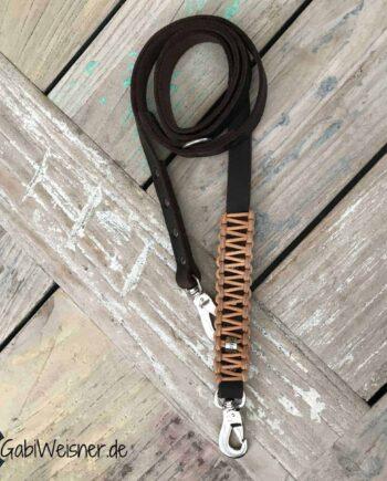 Hundeleine Leder 2 cm breit verstellbar mit Sprenger® Haken