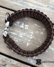 Windhund-Hundehalsband-mit-Klickverschluss-Leder-40-mm-breit-für-mittelgroße-Hunde
