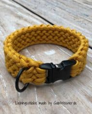 Hundehalsband-in-Honig-Senf-Farben-für-kleine-Hunde