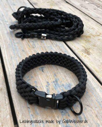 Hundehalsband mit Klickverschluss + Leine für kleine Hunde
