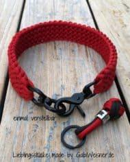 Hundehalsband-in-Schwarz-Rot-2