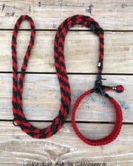 Hundehalsband-SET-in-Schwarz-Rot-für-mittelgroße-Hunde-2