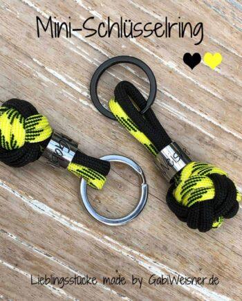 Schlüsselanhänger Schwarz Gelb