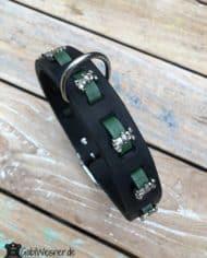 Halsband-Hund-Leder-3-cm-breit-grün