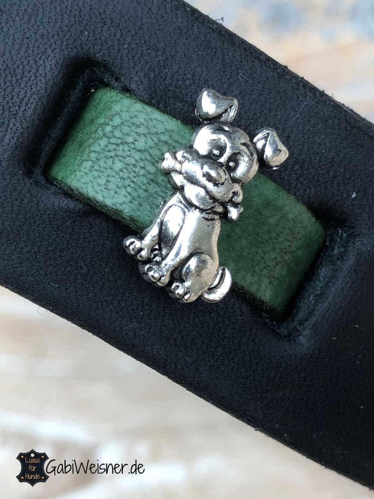 Halsband Hund Leder 3 cm breit, verstellbar in 3/5 Ösen