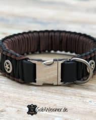 Halsband-mit-Klickverschluss-und-Leine-aus-Leder-für-große-Hunde