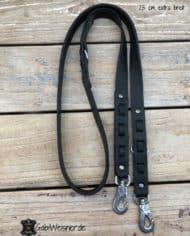 HundeLeine-Leder-2,5-cm-extra-breit-dekoriert-mit-Kork-in-Schwarz