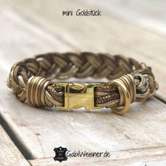 Unser Goldstück für Goldstücke mini Hundehalsband 3 cm breit
