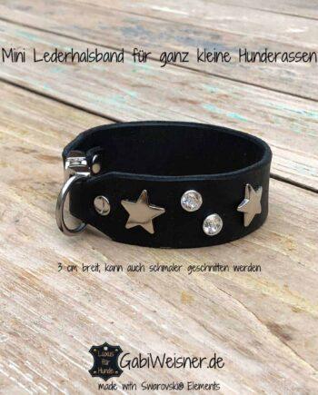 Mini Lederhalsband für ganz kleine Hunderassen