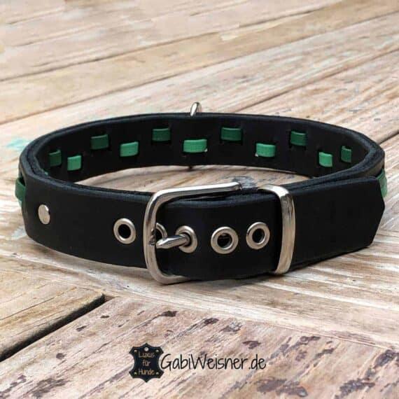 Hundehalsband Leder 3 cm breit
