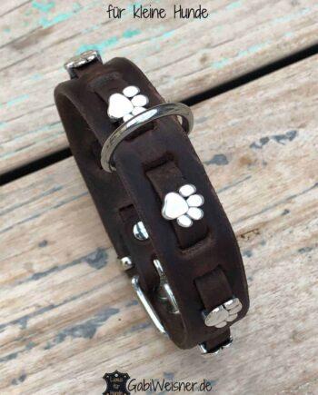 Hundehalsband mit Pfoten