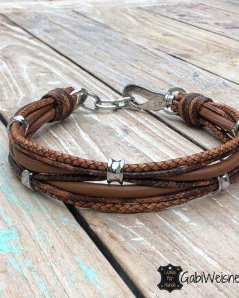 Hundehalsband Leder Braun antikbraun
