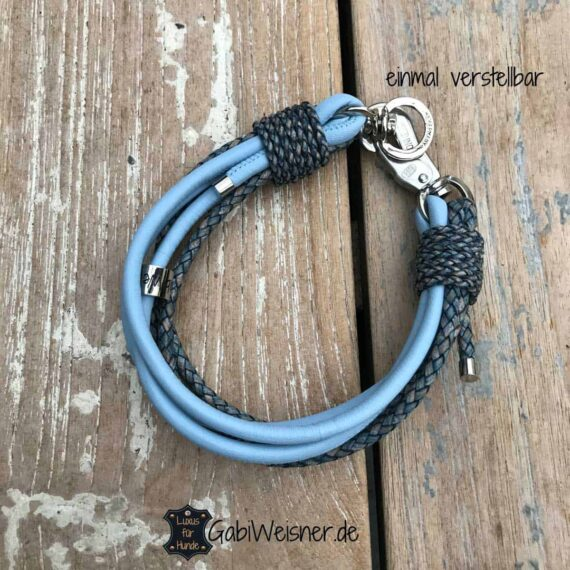 Hundehalsband individuell gestalten Leder Farbe nach Wunsch. 3 cm breit
