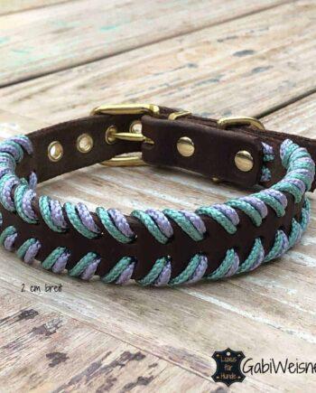 Lederhalsband für kleine Hunde. Eine Lage Leder 2 cm breit