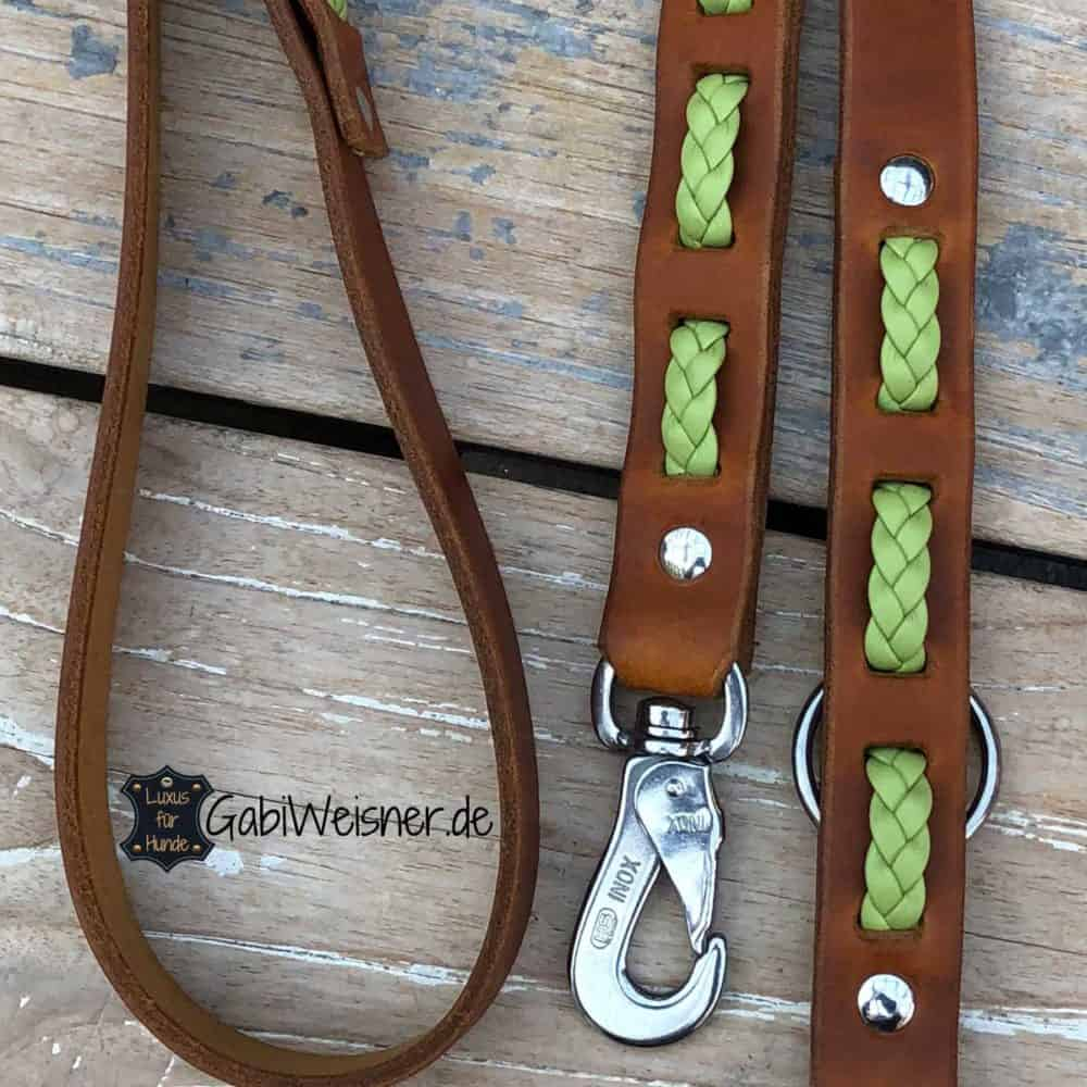 Hundeleine Leder 25 mm breit verschiedene Längen und Farben
